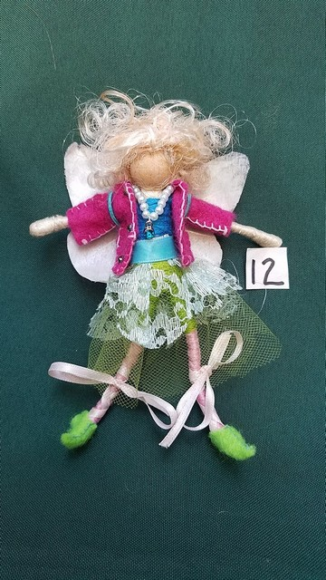 Deluxe Forest Friend Miniature Fairy Doll Removable Clothes Teal Lace Skirt