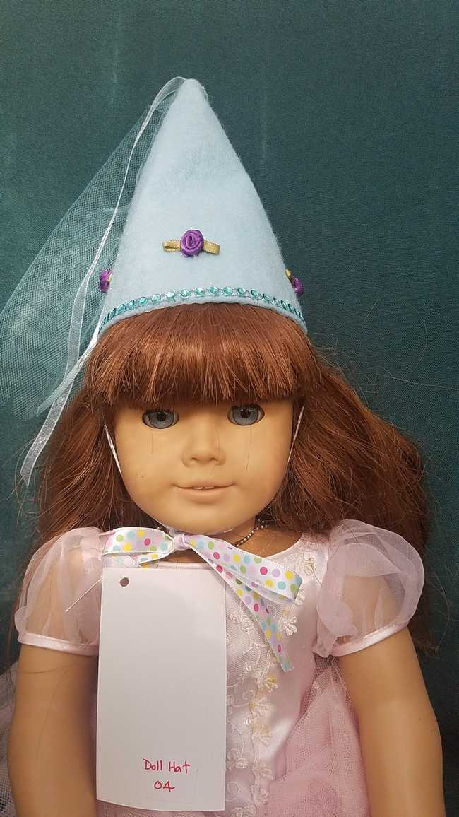 Doll Fairy Princess Hat Blue Fits 18 inch Dolls or Any Size Cat