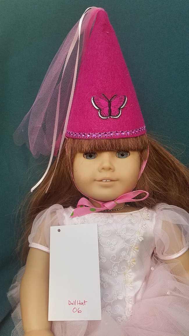 Doll Fairy Princess Hat Fuchsia Fits 18 inch Dolls or Any Size Cat