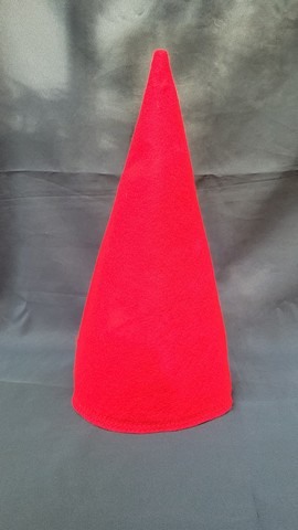 Elf or Gnome Hat - Bright Red Felt  - One Size - 17